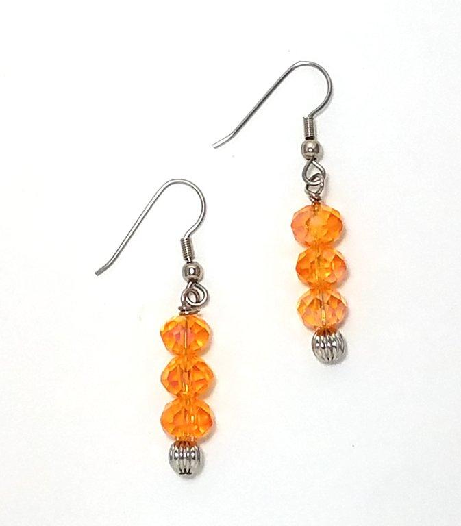 Crystal Orange Earrings ME140