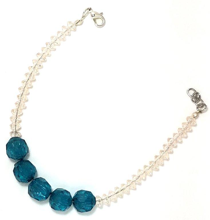 Rondelle Crystal Blue Bracelet MB101