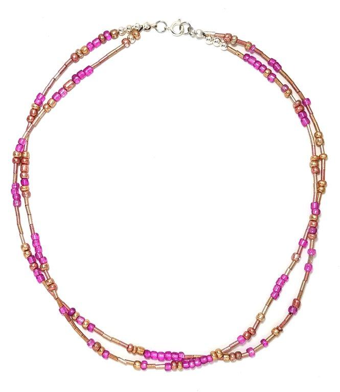 Golden Pink Necklace M139