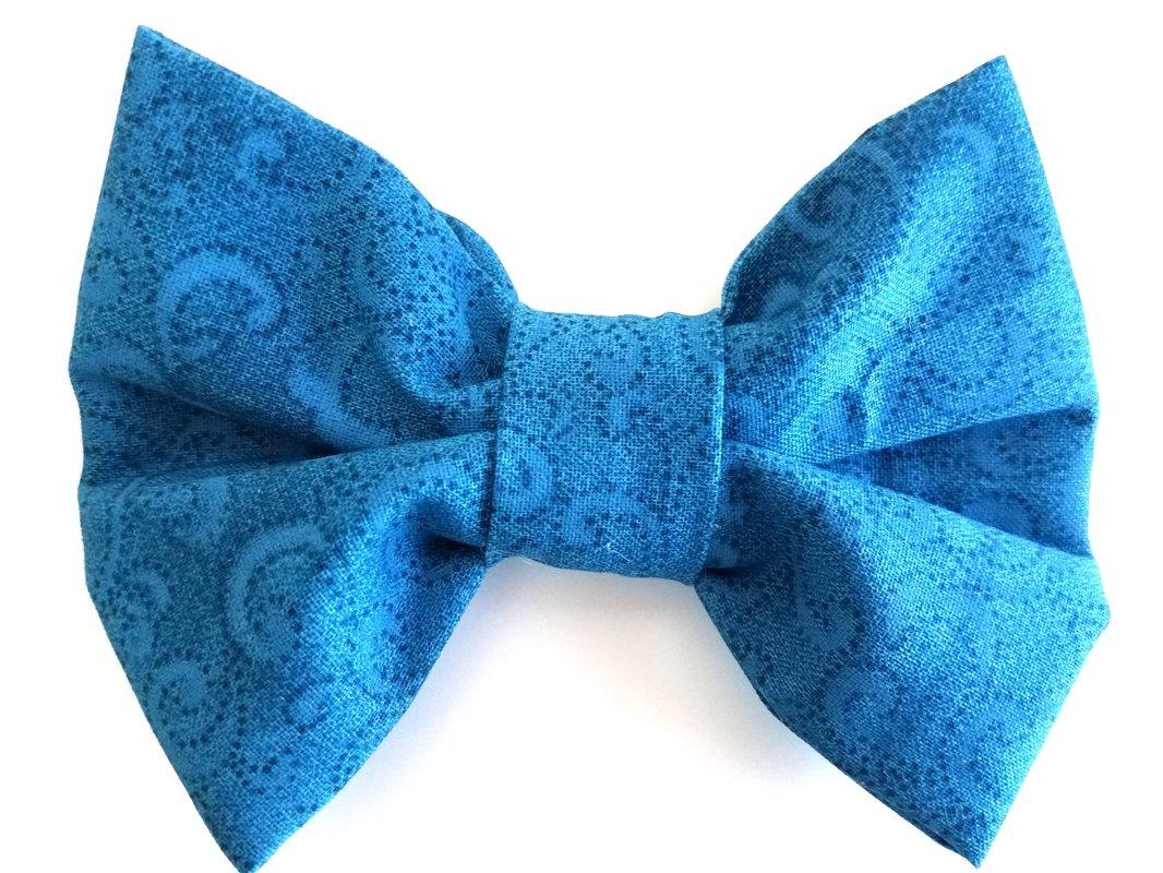 Turquoise Paisley Bow Tie MT103