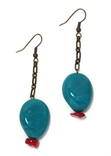 Turquoise Coral Earrings