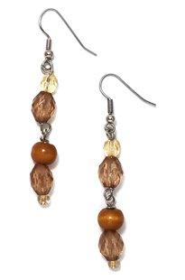 Amber Oval Earrings ME116