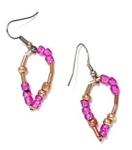 Golden Pink Earrings ME139