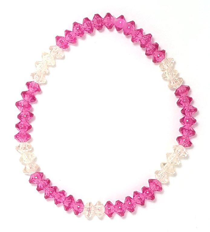 Pink Glass Bracelet MB113