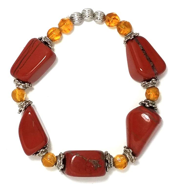 Burnt Stone Bracelet MB111