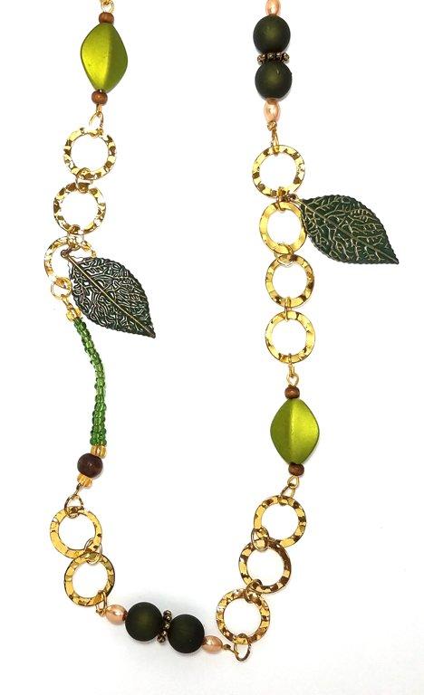 Gold Leaf Necklace M101