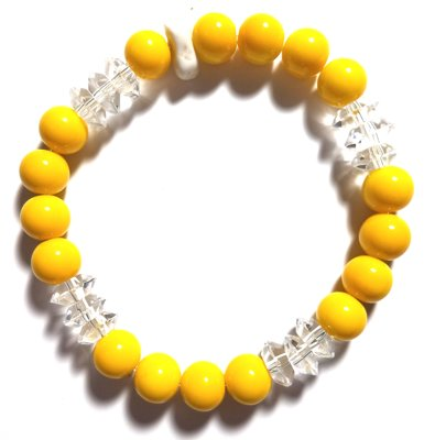 Sunshine Glass Bead Bracelet MB119