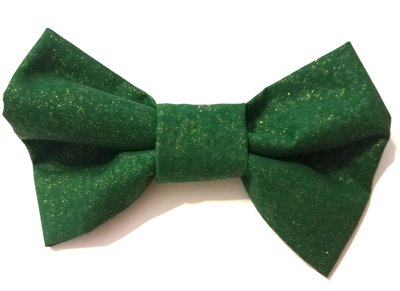 Gold Shimmer Hunter Green Bow Tie MT110