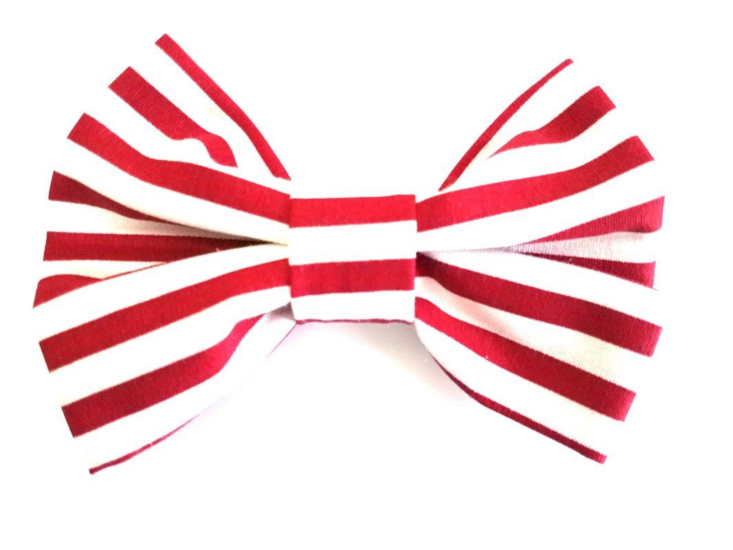 Red & White Strip Bow Tie MT 100